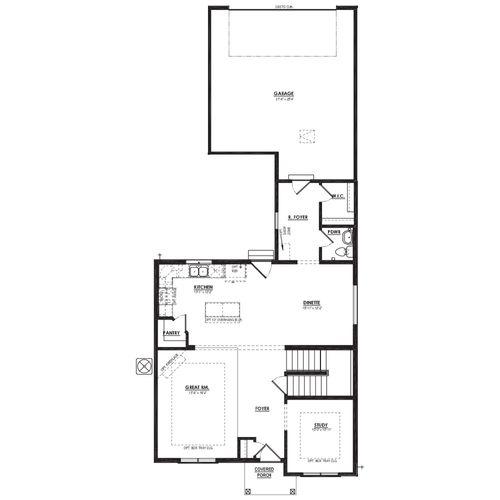 Van Gogh First Floor Plan Drawing