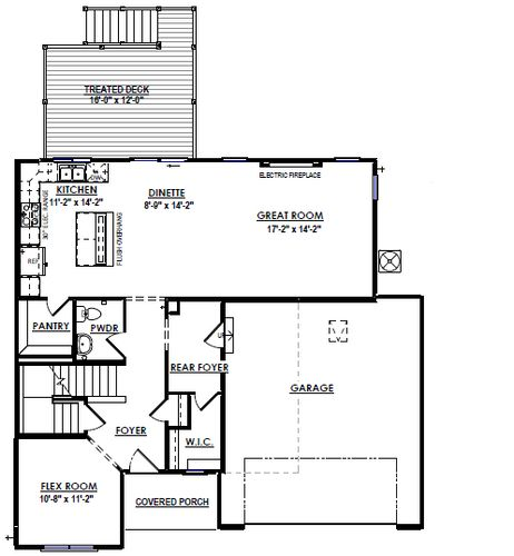 First Floor Plan Drawing of 965 Clover Lane, DeForest, WI