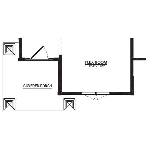 Optional Craftsman Porch
