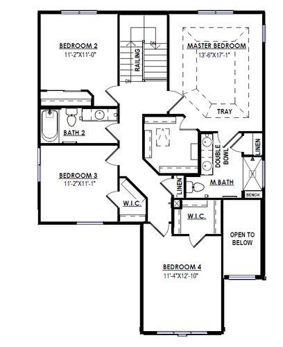 Second Floor Plan Drawing