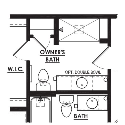 Optional Tile Shower with Bench