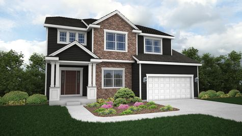 Silverwood Prairie Front Elevation Rendering